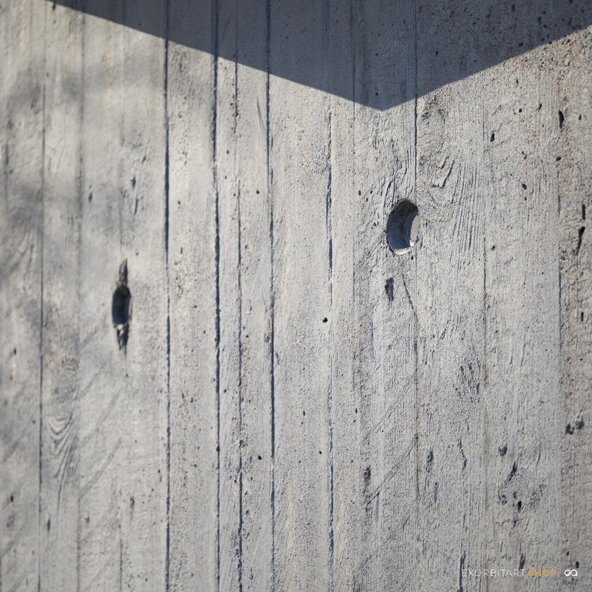 scanned bare concrete close-up