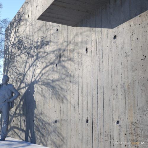 scanned bare concrete