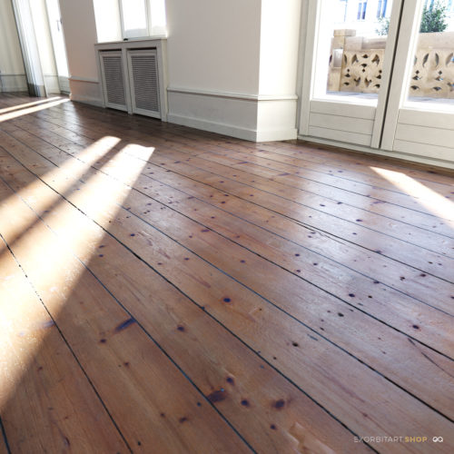 scanned wood flooring planks